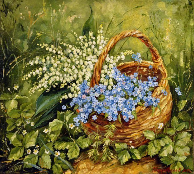 Букеты живопись маслом - красивые картины (4)