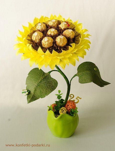 Букеты из конфет - красивые идеи (21)