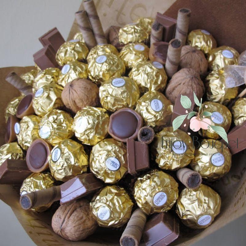 Букеты из конфет - красивые идеи (6)