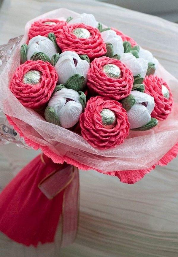 Букеты из конфет - красивые идеи (8)