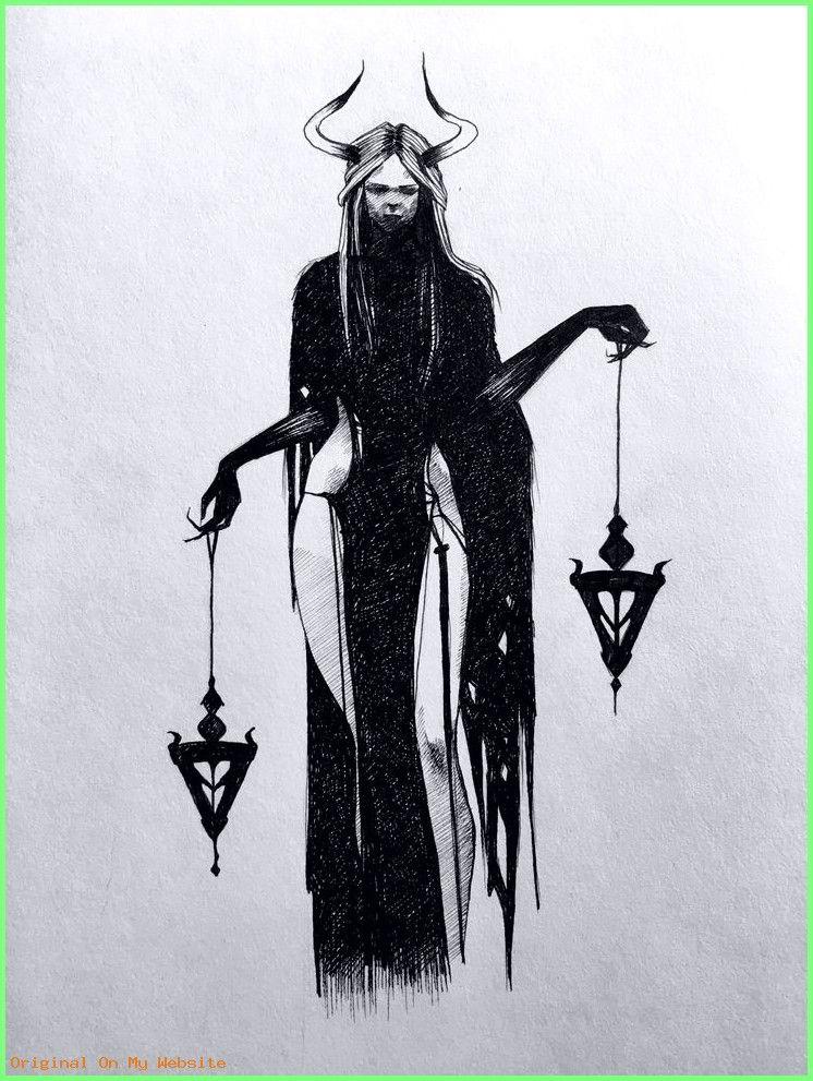 Ведьма тату эскизы   подборка фото (2)