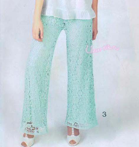 Вязание женских брюк крючком - фото (10)