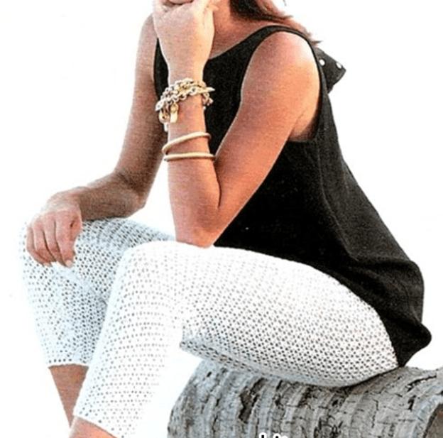 Вязание женских брюк крючком - фото (12)