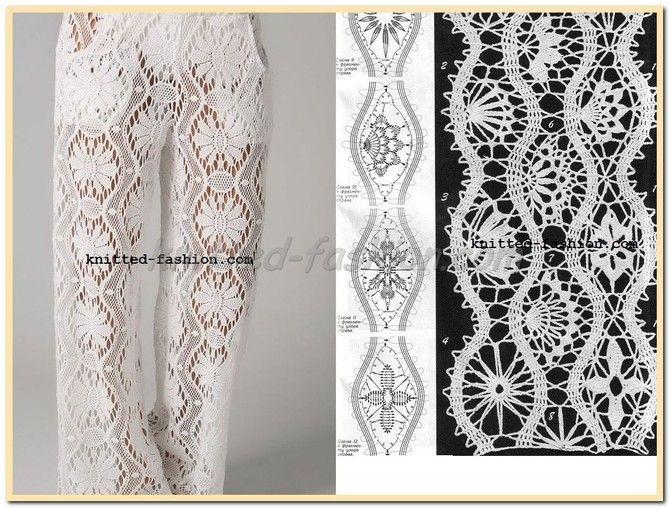 Вязание женских брюк крючком - фото (17)