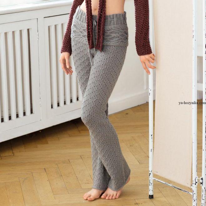 Вязание женских брюк крючком - фото (19)