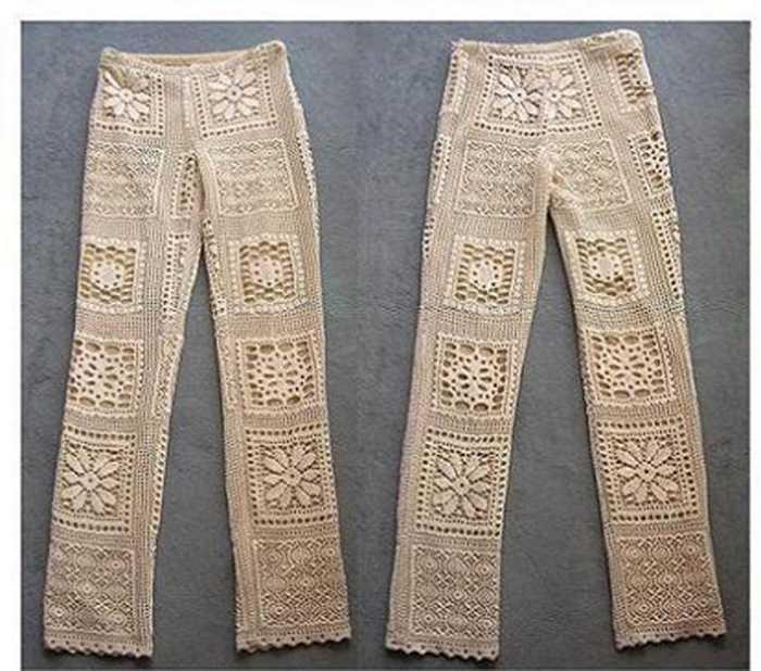 Вязание женских брюк крючком - фото (3)