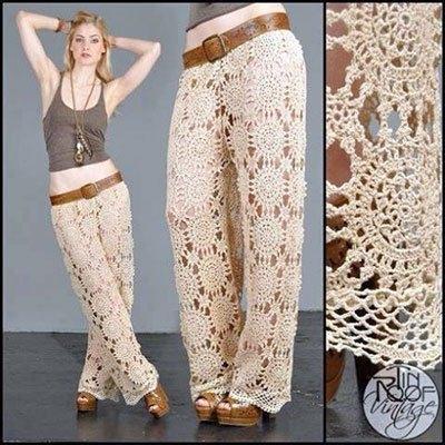Вязание женских брюк крючком - фото (4)