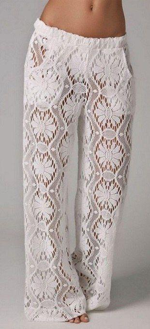 Вязание женских брюк крючком - фото (6)