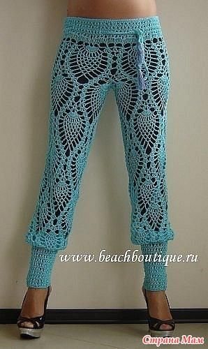 Вязание женских брюк крючком - фото (8)