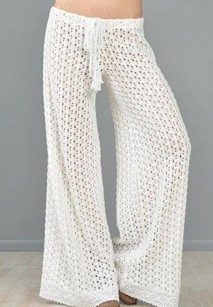 Вязание женских брюк крючком - фото (9)