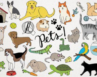 Графические рисунки кошек и собак - подборка (16)
