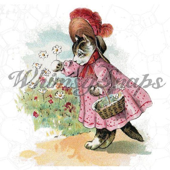 Графические рисунки кошек и собак - подборка (4)