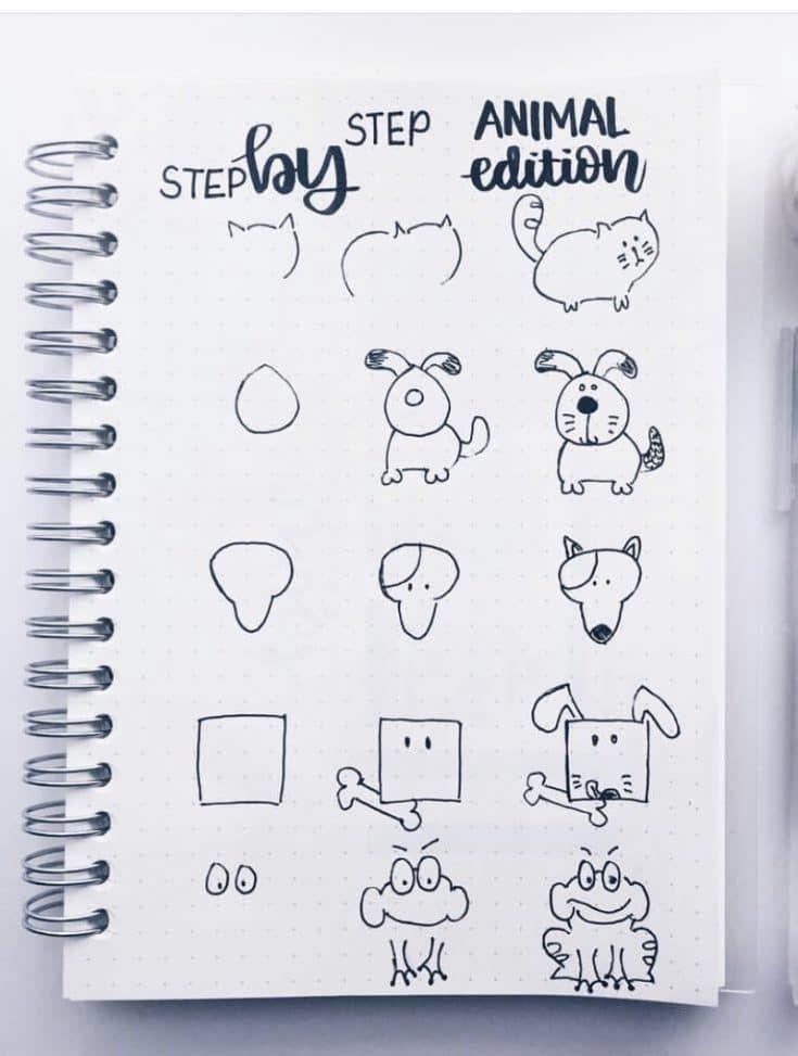 Графические рисунки кошек и собак - подборка (7)