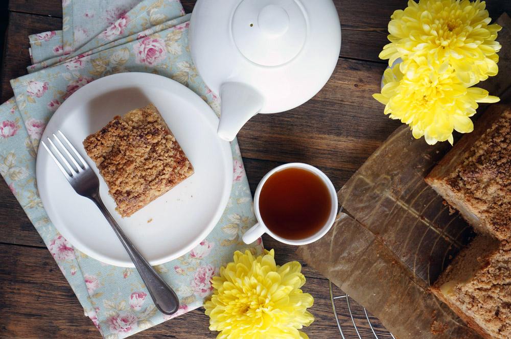Грушевый пирог с крамблом - аппетитные фото (1)