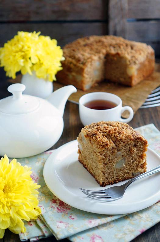 Грушевый пирог с крамблом - аппетитные фото (6)