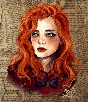 Девушка с рыжими волосами арты (15)