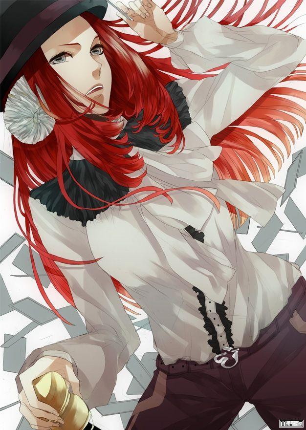 Девушка с рыжими волосами арты (19)