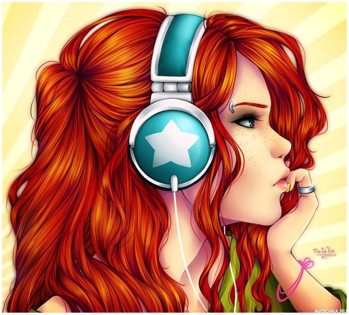Девушка с рыжими волосами арты (25)