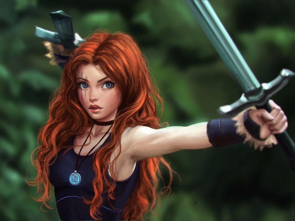 Девушка с рыжими волосами арты (27)