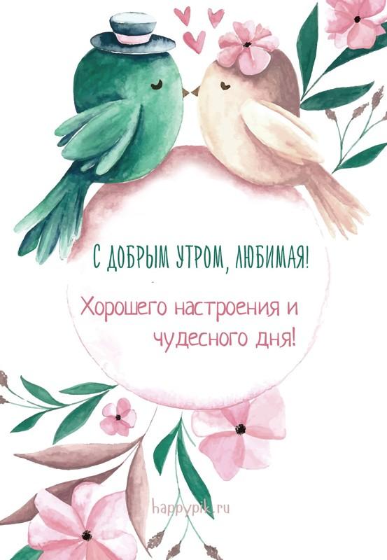 Доброе утро любимая картинки красивые цветы с пожеланиями (14)