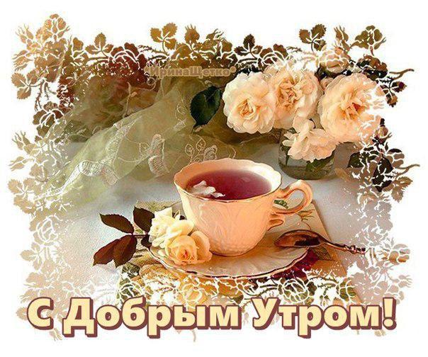 Доброе утро любимая картинки красивые цветы с пожеланиями (15)