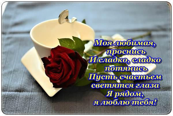 Доброе утро любимая картинки красивые цветы с пожеланиями (3)