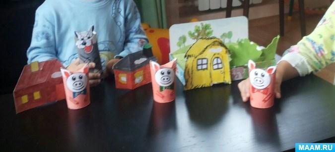 Домик для сказки три поросенка своими руками - фото идеи (11)