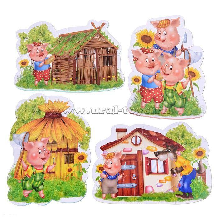 Домик для сказки три поросенка своими руками - фото идеи (3)