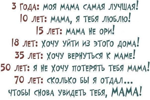 Жизненные и мудрые картинки про родителей с надписями (9)