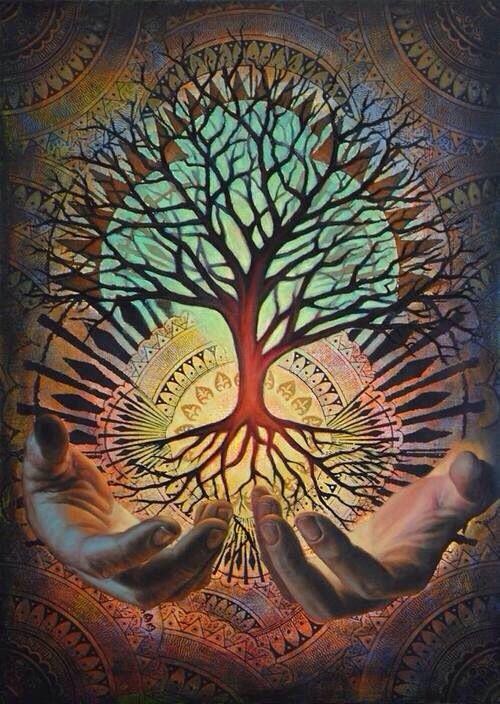 Изобразительное искусство дерево жизни - рисунки (10)