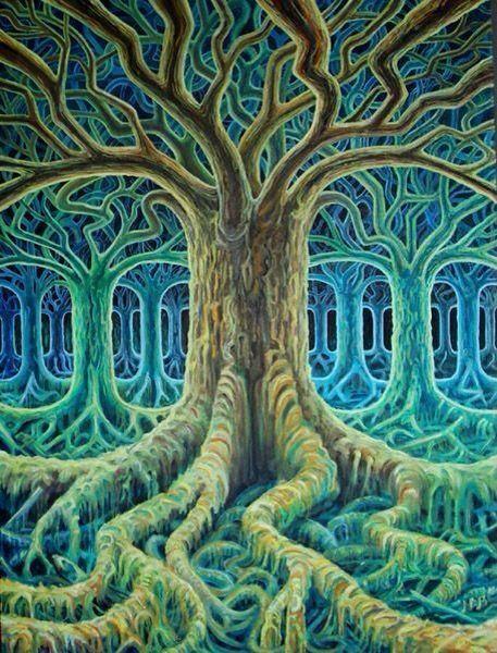 Изобразительное искусство дерево жизни - рисунки (11)