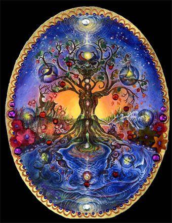 Изобразительное искусство дерево жизни - рисунки (15)