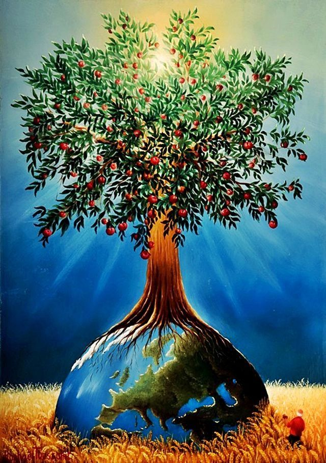 Изобразительное искусство дерево жизни - рисунки (3)