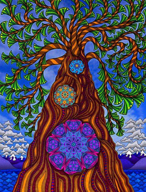 Изобразительное искусство дерево жизни - рисунки (4)