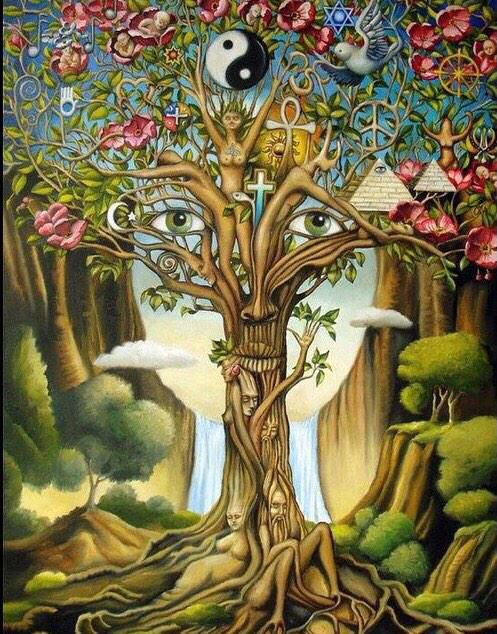 Изобразительное искусство дерево жизни - рисунки (9)