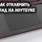 Как отключить тачпад на ноутбуке при подключении мыши 1
