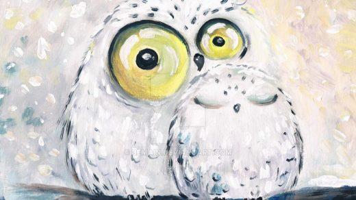 Как раскрасить Гуашью сову   картинки (3)