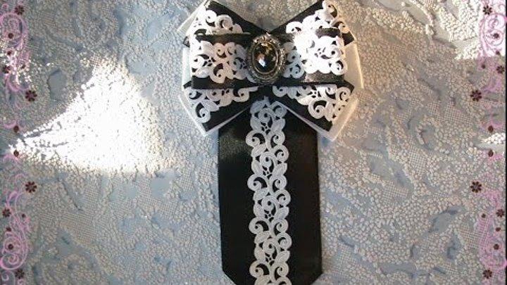 Канзаши школьный галстук - красивые фото (13)