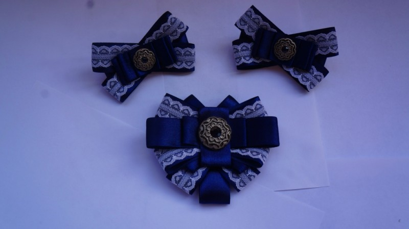 Канзаши школьный галстук - красивые фото (3)
