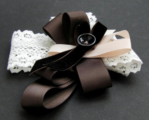 Канзаши школьный галстук - красивые фото (4)