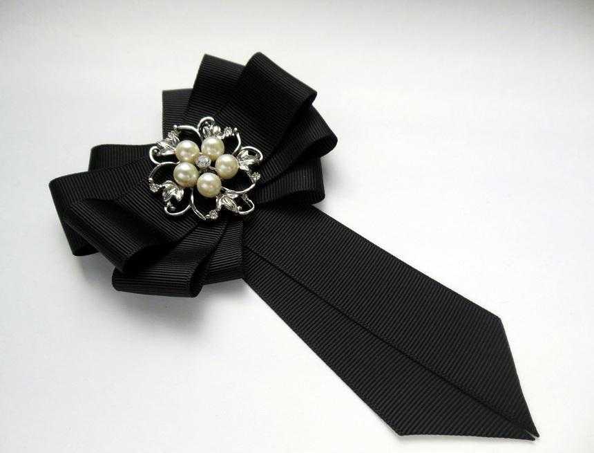 Канзаши школьный галстук - красивые фото (6)