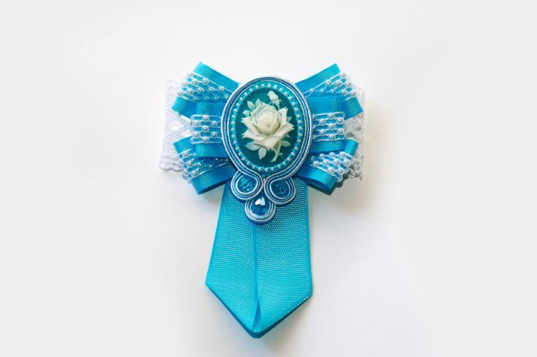 Канзаши школьный галстук - красивые фото (7)