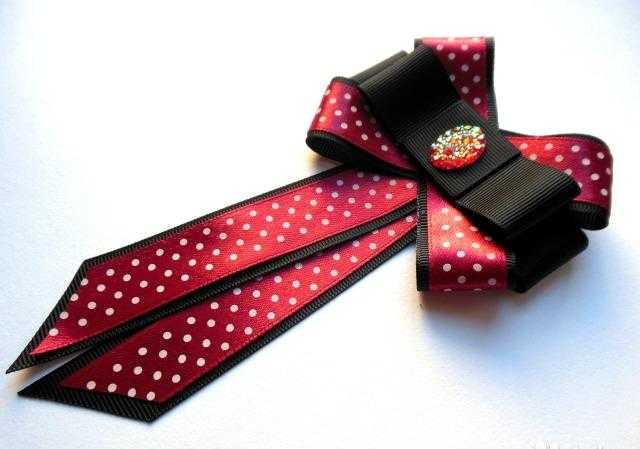 Канзаши школьный галстук - красивые фото (8)