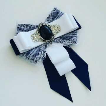 Канзаши школьный галстук - красивые фото (9)