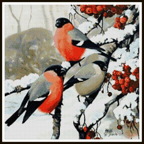 Картинки Снегири и Рябина (1)