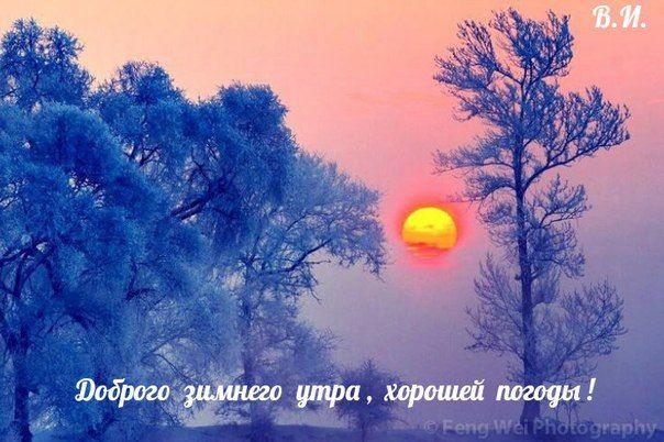 Картинки и открытки доброе зимнее утро - 20 фото (8)