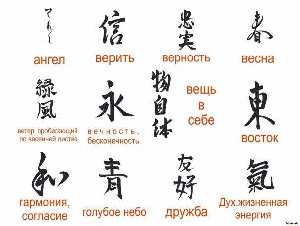 Картинки китайские иероглифы тату (16)