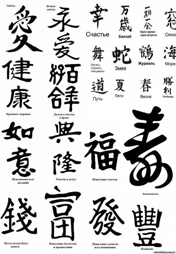 Картинки китайские иероглифы тату (9)