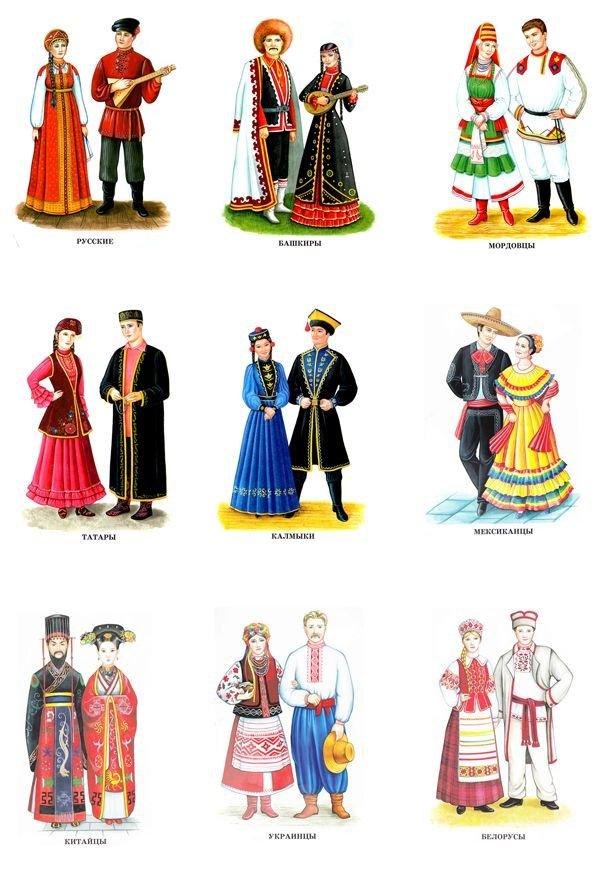 Картинки костюмов народа мира