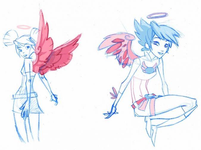 Картинки мультфильм Друзья ангелов (25)